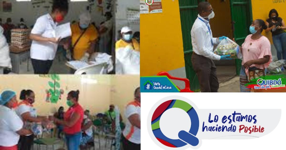 Secretaría de Educación de Quibdó entrega raciones alimentarias a padres de familia
