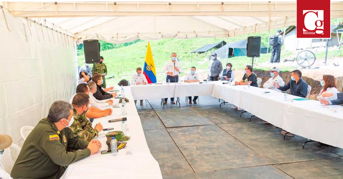 Durante su visita a la antigua ETCR en Dabeiba, Presidente Duque reitera compromiso del Gobierno con la reincorporación