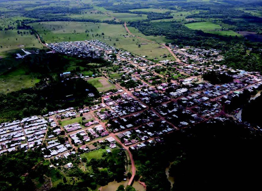 Panorámica del municipio, ícono natural del Guaviare.