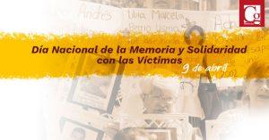 9 de abril: Día de la Memoria y Solidaridad con las Víctimas