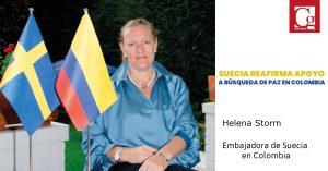 Suecia reafirma apoyo a búsqueda de paz en Colombia